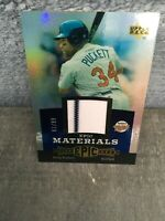 2006 UPPER DECK EPIC Materials KIRBY PUCKETT JERSEY Blue SERIAL 81/99 Twins