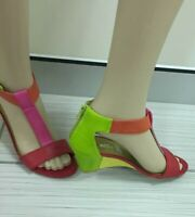 I Love Billy Multi Coloured Wedge Shoes Size 36
