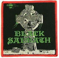 BLACK SABBATH - Headless Cross - Square Woven Patch Rare Red Edging Aufnäher
