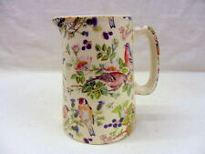 British birds on clear half pint jug pitcher jug by Heron Cross Pottery