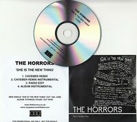 THE HORRORS She Is The New Thing 2007 UK 4-track promo test CD Caveman Remix