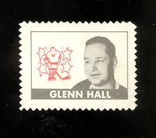 1969 70 TOPPS OPC O PEE CHEE HOCKEY GLENN HALL STAMP UNUSED EX-NM ST LOUIS BLUES