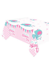 Pink On Your Christening Day Plastic Tablecover