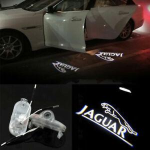 2X Led Door Light Projector Logo Emblem HD Puddle lamp For JAGUAR XJ XJL X-TYPE