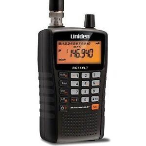 Uniden Bearcat UBC 75 XLT Handheld Radio Scanner Receiver 300 Channels Airband