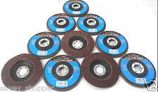"""SANDING DISC 10 PC. 4 1/2"""" INCH X 7/8"""" FLAP 40 GRIT WHEEL  ALUMINUM OXIDE"""
