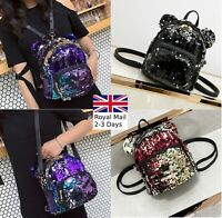 Glitter Sparkling Girl School Bag Travel Cute Backpack Satchel Rucksack Shoulder
