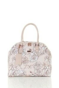 MARIKAI Oriano Floral Deluxe Dome Travel Overnight Bag Pink Rose