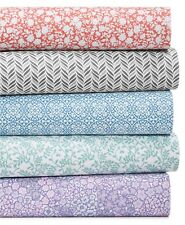 Martha Stewart KING Sheet Set Essentials Printed Microfiber Climbing Vine B98046