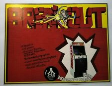 Atari Breakout Arcade FLYER Original 1976 Retro Video Game Retro Classic Artwork