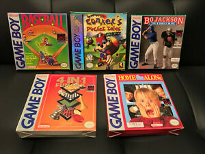 5 Nintendo Gameboy Boxes - Box Only No Game - Conker, Home Alone, Baseball, More