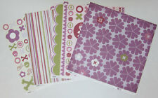 """4 Kaisercraft Double Sided Skull Girl Scrapbooking Paper 12""""x12"""" Card Making"""