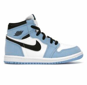 New Jordan 1 Retro High OG University Blue TD AQ2665-134 Size 5c