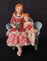Ceramic Sisters Reading Figurine - 6 Inches Tall | FREE Delivery UK*