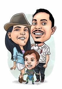 Custom caricature from your photo Hand drawing - cartoon or Smooth caricature