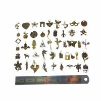 100g/lot Assorted Jewelry Making Alloy Bronze Charms Pendants Findings Crafts