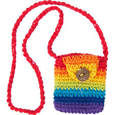 Kheops International - Cotton Crystal Pouch Crocheted Rainbow (58008)