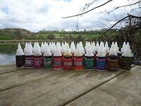 Carp Bait Liquid Flavourings. Boilie Making Flavours. Carp Bait Attractants Glug