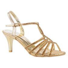 Sandali e scarpe slim in oro per il mare da donna