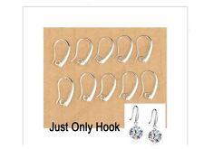 100PCS Lot 925 Sterling Silver Jewelry Findings Earring Pinch Hooks Earwire