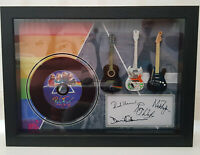 Pink Floyd The Dark Side 3 Miniature Guitar and mini LP Shadow box signed print