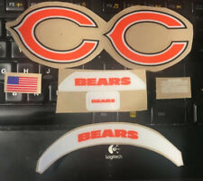 BEARS (FULL SIZE) Helmet Side Decals in Orange, Blue and White, with all Extras.