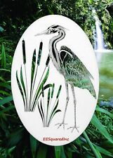 Egret Right Window Decal Oval 10x16 Tropical Decor for Glass Doors & Windows