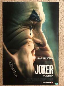 JOKER Joaquin Phoenix Signed Movie Poster Autograph 293x430mm limited edition