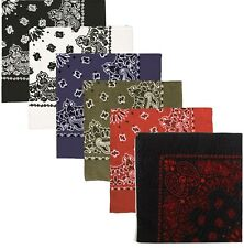 "Trainmen Bandana Variety 6 Pack 27""x 27"" Cotton Paisley ALL SIX Bandanas"
