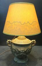 """Vintage Handled Copper Finished Bacchus Electric Table Lamp 15"""" x 9"""" Very Good"""