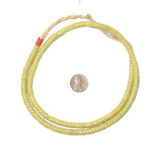 African Glass Snake Beads, Light Yellow (6mm) Nigeria