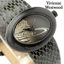 Vivienne Westwood Swiss Black Ellipse Watch VV014CHBK (  NEW AND 100% GEN )