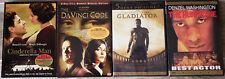 4 DVD's Gladiator, The Hurricane, The Da Vinci Code and Cinderella Man Tom Hanks
