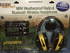 Jensen Heavy Duty Mini Weatherproof Radio & Bluetooth Headphones ZAEJHD910BTKHD