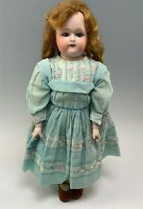 """Antique 18"""" Nippon Bisque Doll With Kid Body, Bisque Arms"""
