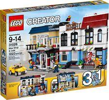 BRAND NEW LEGO Creator Bike Shop & Café 31026 LIGHTLY DENTED