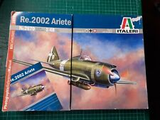 ITALERI Re.2002 Ariete, with Photographic Reference Manual, complete, vgc, 2670