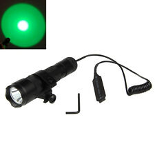 Tactical 5000Lm Green Q5 LED 502B Flashlight Torch Light Rifle Hunting Head Lamp