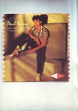 pochette disque 45 tours ( pas de disque ) paul young ' come back and stay '