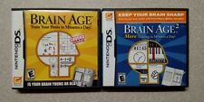 Brain Age + Brain Age 2 Nintendo DS games TESTED ships FREE