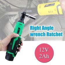 12V Cordless Right Angle Wrench Ratchet Power Tool 3/8'' & 2.0Ah Li-ion Battery