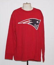 NFL New England Patriots Kids Size 8 Red Distressed Long Sleeve Shirt