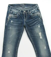 SILVER TUESDAY LOW BOOT Distressed FLAP POCKETS  - size 29 / inseam 31