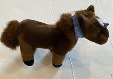 """Aurora Brown Horse Pony Wild Mustang Stuffed Toy With Galloping Sounds 8"""" Stands"""