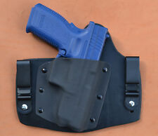 """Leather Kydex hybrid IWB holster for Springfield Armory Xdm 4.5"""" 9mm, .40, .45"""
