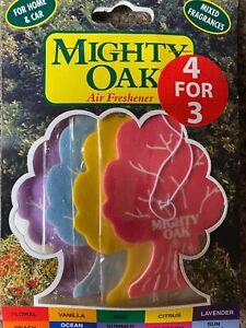 4 Pack Set Mighty Oak Car Air Freshener Freshner Mixed Fragrance Scent Bundle