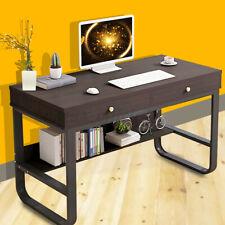 Computer Desk PC Laptop Table Study Workstation Home Office Furniture Bookshelf