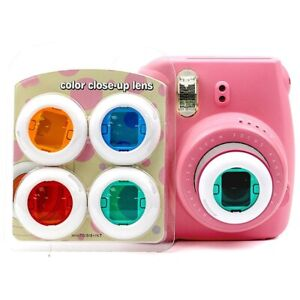 4x Colours Filter Close Up LENS Polaroid Fujifilm Instax Mini Camera 7/8/8+/9/KT