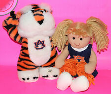 AUBURN University Musical MASCOT and CHEERLEADER DOLL Plush Stuffed Toy Applause