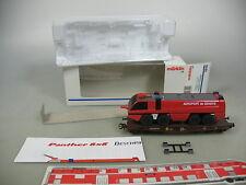 AK530-1# Märklin H0/AC 4849 Flachwagen m. Feuerwehr/FW-Fahrzeug NEM KK, OVP